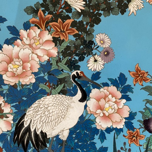 Asian Art & Antiques  - Japan, very large cloisonne charger, 19th century.