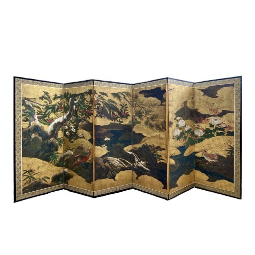 Japan, Folding screen, Kano School, Edo period, late 17th century.