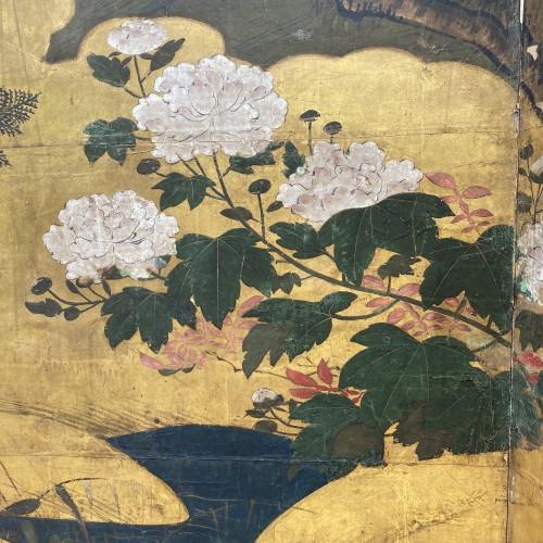 Asian Works of Art  - Japan, Folding screen, Kano School, Edo period, late 17th century.
