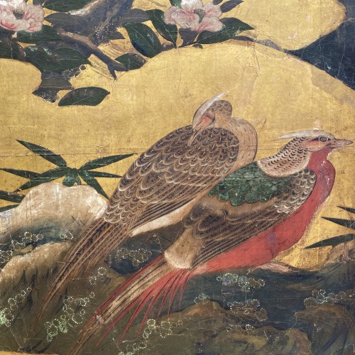 Japan, Folding screen, Kano School, Edo period, late 17th century. -