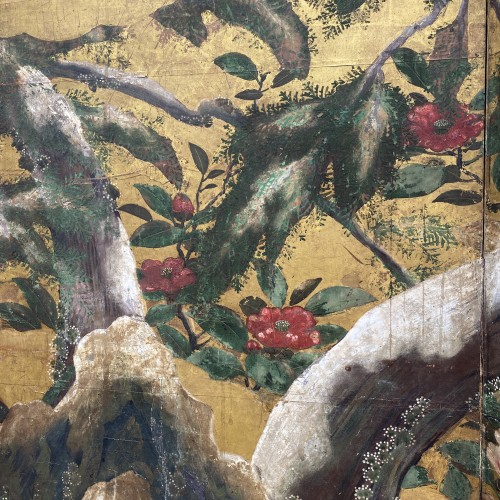17th century - Japan, Folding screen, Kano School, Edo period, late 17th century.