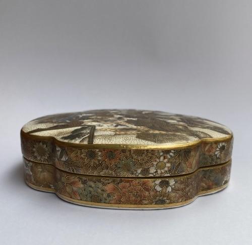 Japan , Satsuma kogo box and cover By Seikozan, Meiji Period - Asian Art & Antiques Style