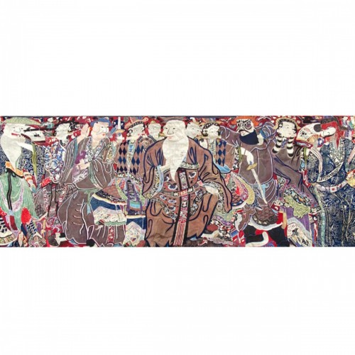 China, large  Wall hanging with scene from an opera, 19th century