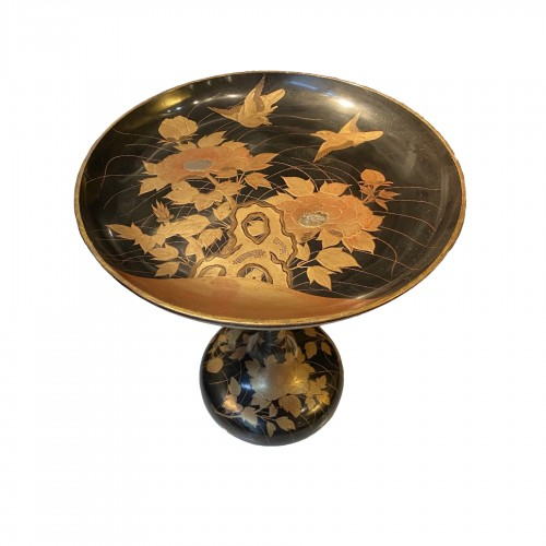 A Japanese lacquer Takatsuki (stem table), 19th century