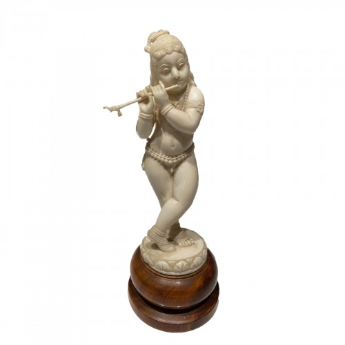 Krishna playing the flute, Anglo-Idia late 19th Century