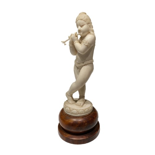Krishna playing the flute, Anglo-Idia late 19th Century - Asian Works of Art Style
