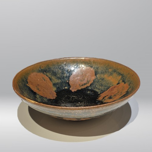 A Fine Song or Jin Dynasty Black Pottery Bowl of Cizhou Type, 12th, 13th ce - Asian Works of Art Style