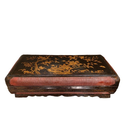Large lacquer and basketry box, China Ming period, early 17th century.