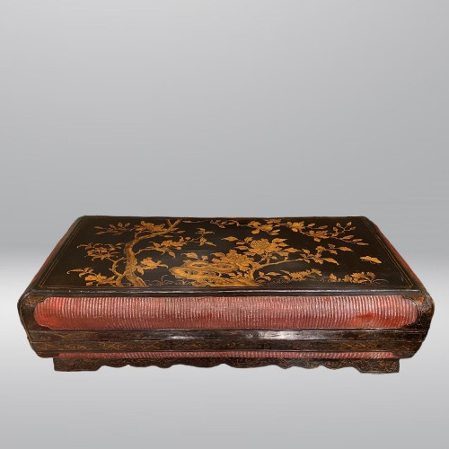 Large lacquer and basketry box, China Ming period, early 17th century. - Asian Works of Art Style