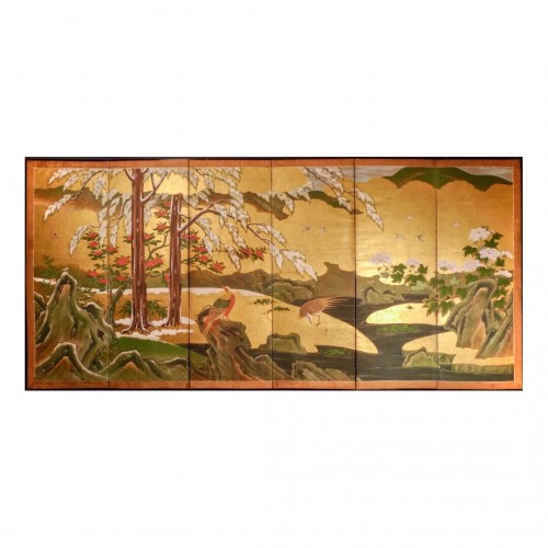Japan, Six folds screen, Kano school, Edo period