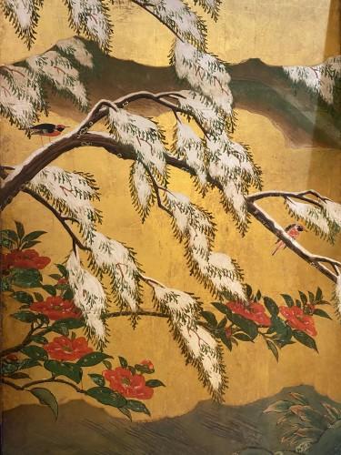 Asian Works of Art  - Japan, Six folds screen, Kano school, Edo period