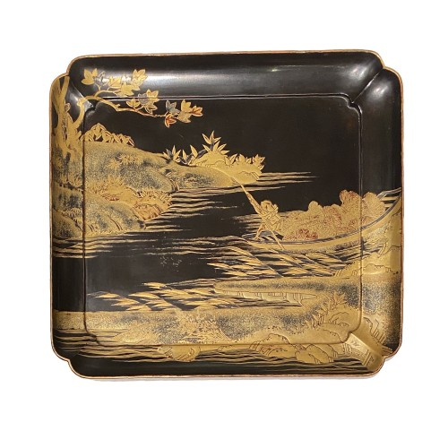 Llacquer tray, Japan Edo period 18th century - Asian Works of Art Style