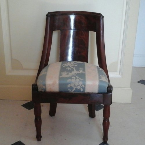 A Charles X gondola chair for child - Seating Style Restauration - Charles X