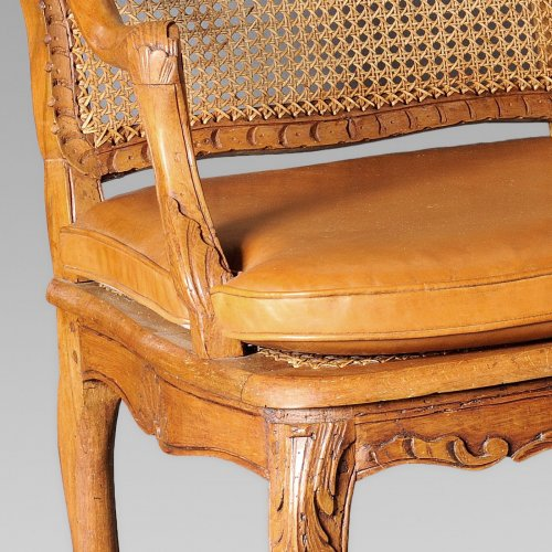 Seating  - Pair of french Regence canned armchair, early 18th century