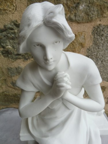 Porcelain & Faience  - Jeanne d'Arc in Domremy, biscuit by Luca Madrassi