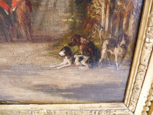 Paintings & Drawings  - JADIN Godefroy (1805-1882) - hunting with hounds scene