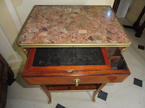 Furniture  - A Transitional Louis XV/Louis XVI side table
