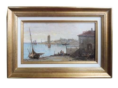 Mascart Gustave said Taverny (1834-1914) - Animated Port Scene