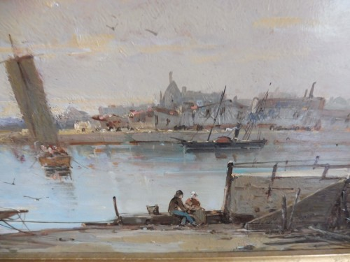 Mascart Gustave said Taverny (1834-1914) - Animated Port Scene - Paintings & Drawings Style