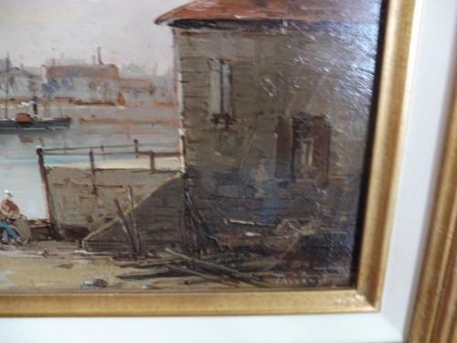 Mascart Gustave said Taverny (1834-1914) - Animated Port Scene -
