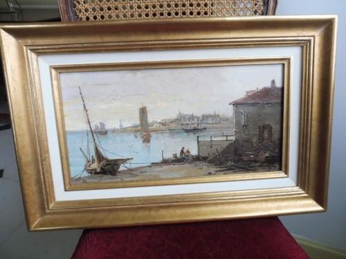 19th century - Mascart Gustave said Taverny (1834-1914) - Animated Port Scene