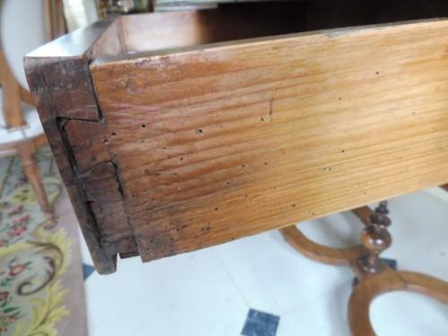 - Louis XIII desk table in gaiac, work of La Rochelle