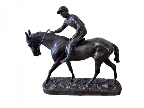 Racehorse with his jockey - René Paris (1881-1970)