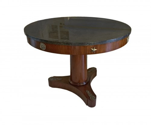Mahogany pedestal table, Empire period