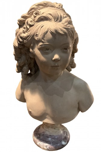 Bust of Sabine Houdon at the age of 4 years, terracotta late 18th century