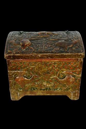 Casket depicting harpies - Catalogna XV century - Curiosities Style Middle age