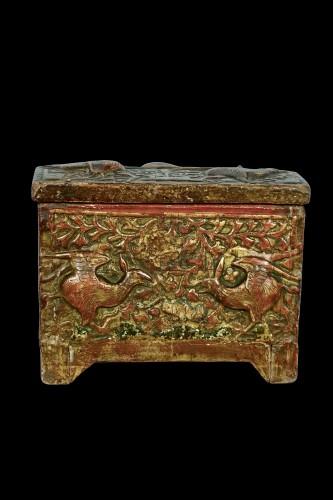 Curiosities  - Casket depicting harpies - Catalogna XV century