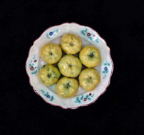 Collection of six trompe l'oeil plates - XVIII century - Porcelain & Faience Style
