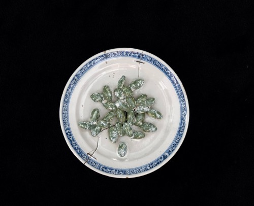 Collection of six trompe l'oeil plates - XVIII century -
