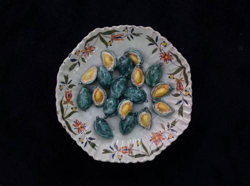 - Collection of six trompe l'oeil plates - XVIII century