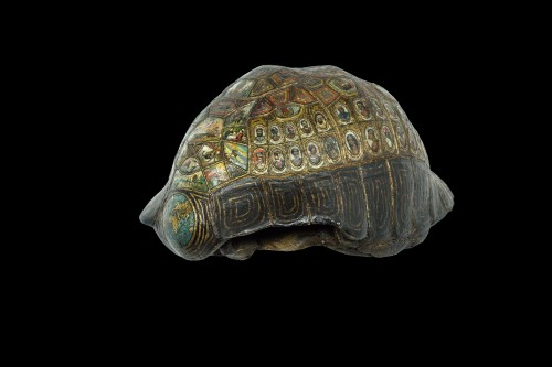 Painted and golden turtle shell -