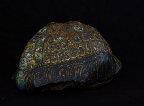 - Painted and golden turtle shell