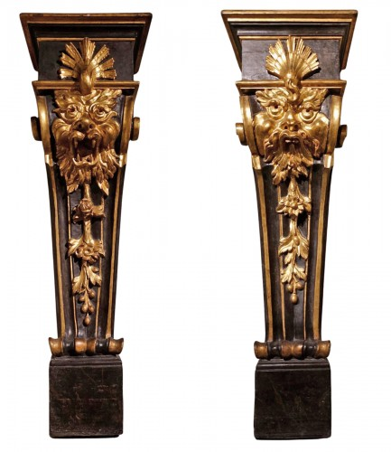 Pair of pedestals - Florence, early 17th century