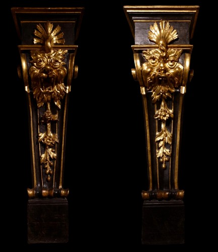 Pair of pedestals - Florence, early 17th century -