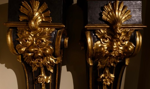 Antiquités - Pair of pedestals - Florence, early 17th century