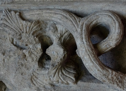 Carved corner frieze - France - 15th century -