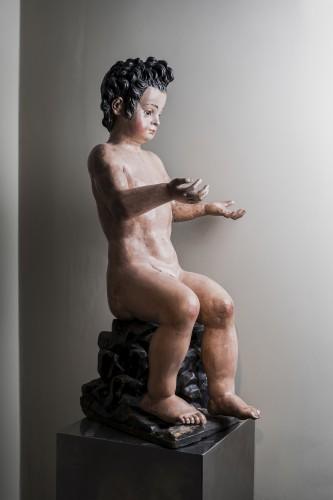 Infant St John the Baptist , 17th century, Cercle of Juan Martinez Montañés - Sculpture Style Renaissance