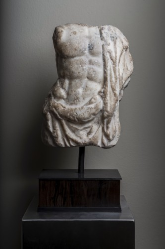 A Roman marble torso of Asklepios, circa 2nd century A.D. - Ancient Art Style