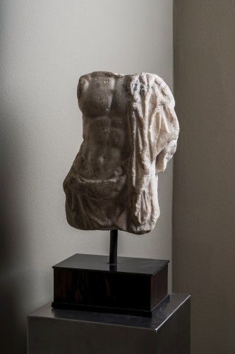 Ancient Art  - A Roman marble torso of Asklepios, circa 2nd century A.D.