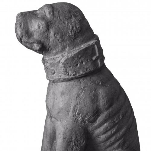 Rare pair of sitting mastiff dogs - Venice, 15th - 16th century - Renaissance