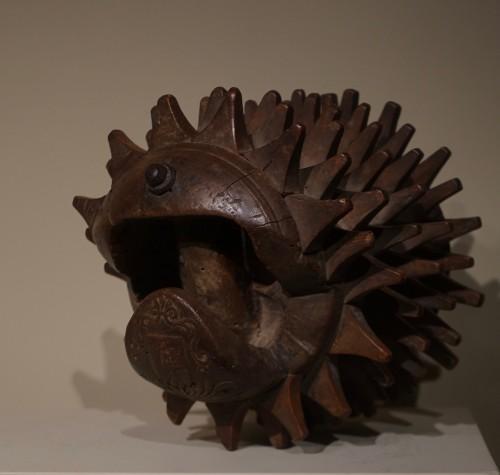 "Curiosities  - Carved Walnut ""Braccia"" for ""Pallone col bracciale""- Rome, 17th century"