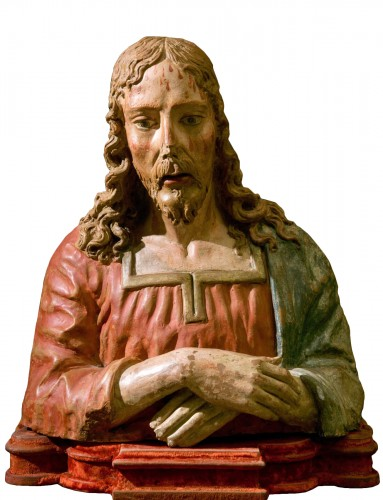 Terracotta bust of Christ as The Redeemer - Late 15th century