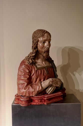 Terracotta bust of Christ as The Redeemer - Late 15th century - Sculpture Style Renaissance