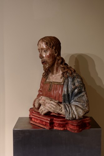 Sculpture  - Terracotta bust of Christ as The Redeemer - Late 15th century