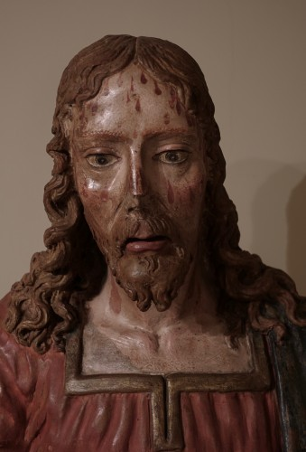 <= 16th century - Terracotta bust of Christ as The Redeemer - Late 15th century