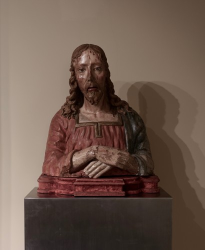 Terracotta bust of Christ as The Redeemer - Late 15th century - Renaissance